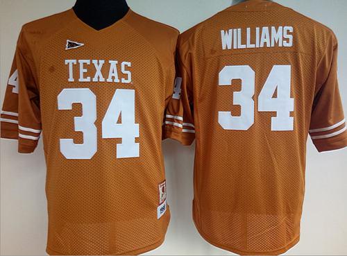 Longhorns #34 Ricky Williams Orange Women's Stitched NCAA Jersey