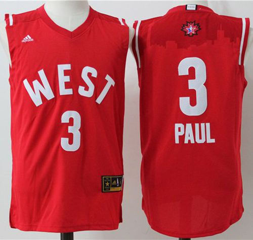 Los Angeles Clippers 3 Chris Paul Red 2016 All Star NBA Jersey