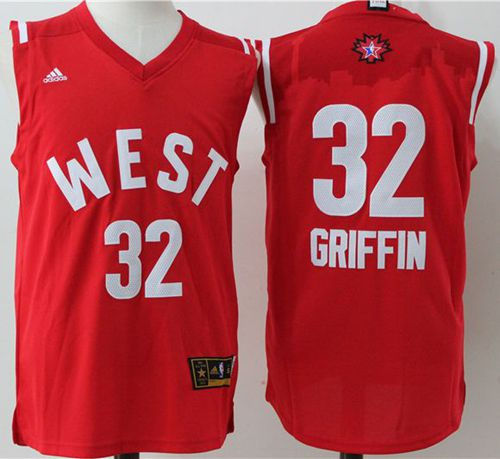 Los Angeles Clippers 32 Blake Griffin Red 2016 All Star NBA Jersey