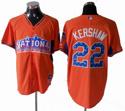 Los Angeles Dodgers 22# Clayton Kershaw National League 2013 All Star Jersey
