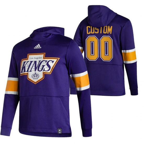Los Angeles Kings Custom Adidas Reverse Retro Pullover Hoodie Purple