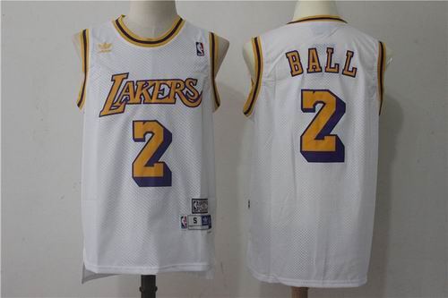 Los Angeles Lakers #2 Lonzo Ball White Jersey