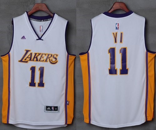 Los Angeles Lakers 11 Yi Jianlian White NBA Jersey