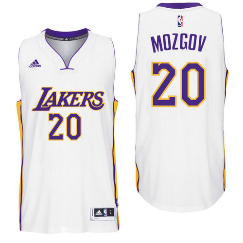 Los Angeles Lakers 20 Timofey Mozgov Alternate White New Swingman Jersey