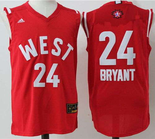 ... Swingman Blue Jersey Los Angeles Lakers 24 Kobe Bryant Red 2016 All  Star NBA Jersey ... 072c43f21