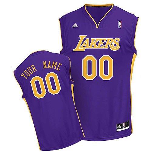 Los Angeles Lakers Revolution 30  personalized Custom Road Jersey