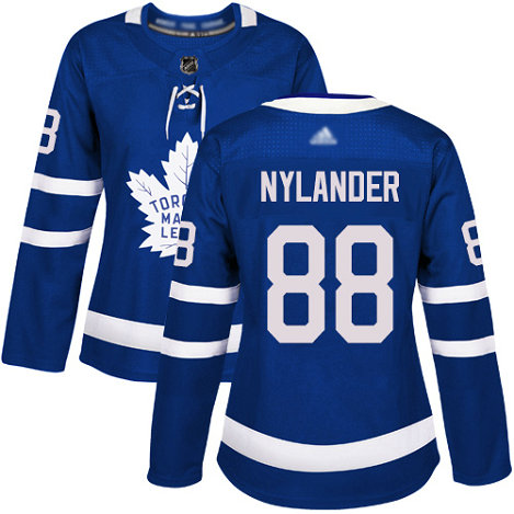 Maple Leafs #88 William Nylander Blue Home Authentic Women's Stitched Hockey Jersey