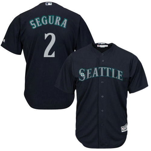 Mariners #2 Jean Segura Navy Blue Cool Base Stitched Youth Baseball Jersey