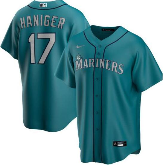 Mariners 17 Mitch Haniger Green 2020 Nike Cool Base Jersey