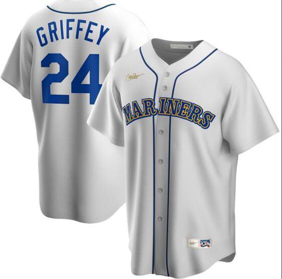 Mariners 24 Ken Griffey Jr. White 2020 Nike Cool Base Jersey