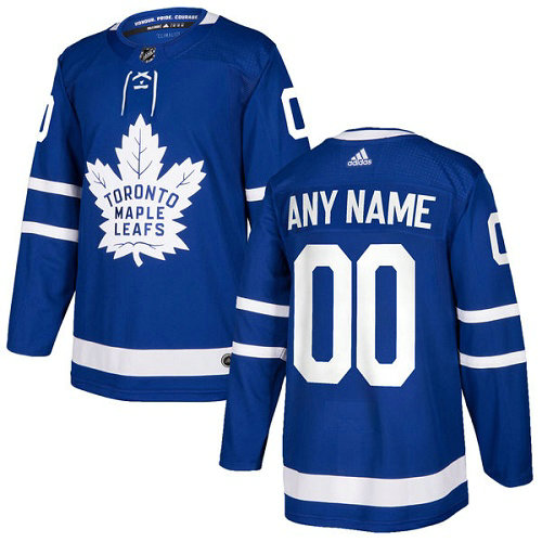 Men's Adidas Maple Leafs Personalized Authentic Royal Blue Home NHL Jersey