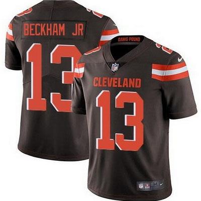 Men's Cleveland Browns #13 Odell Beckham Jr Brown Vapor Limited Jersey