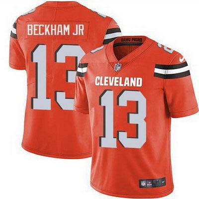 Men's Cleveland Browns #13 Odell Beckham Jr Orange Limited Jersey