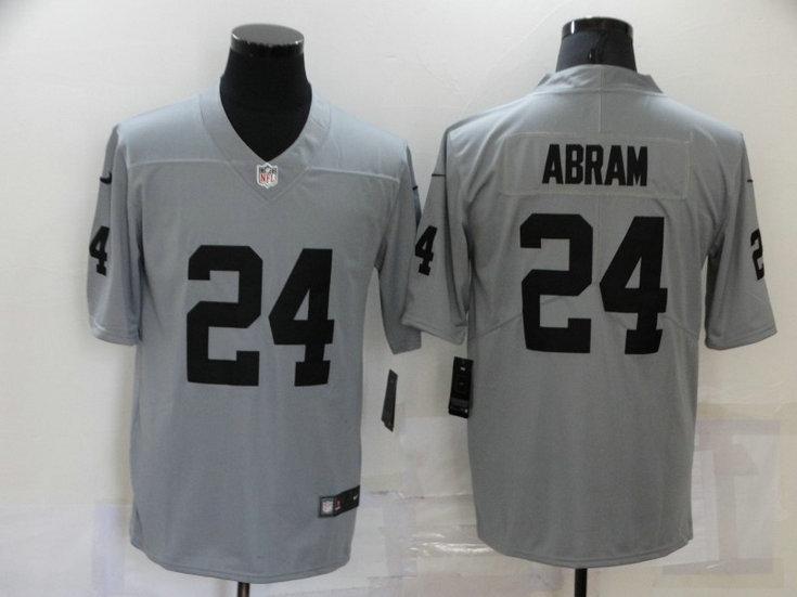 Men's Las Vegas Raiders #24 Johnathan Abram Nike Gray Gridiron 2018 Vapor Untouchable NFL Gray Limited Jersey