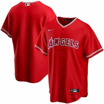 Men's Los Angeles Angels Nike Red Alternate 2020 Replica Team Jersey