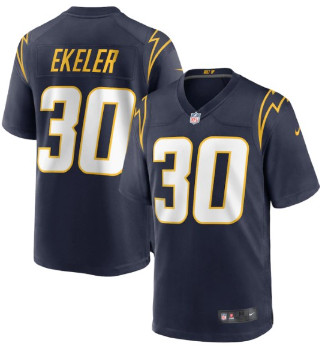 Men's Los Angeles Chargers #30 Austin Ekeler Navy Vapor Limited Jersey