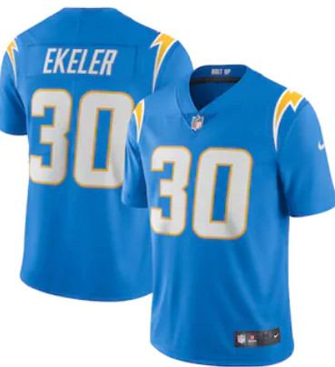 Men's Los Angeles Chargers #30 Austin Ekeler Powder Blue Vapor Limited Jersey