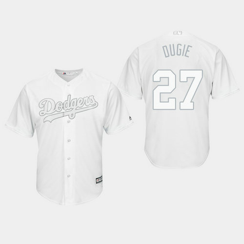 Men's Los Angeles Dodgers Alex Verdugo #27 White 2019 Players' Weekend Dugie Jersey