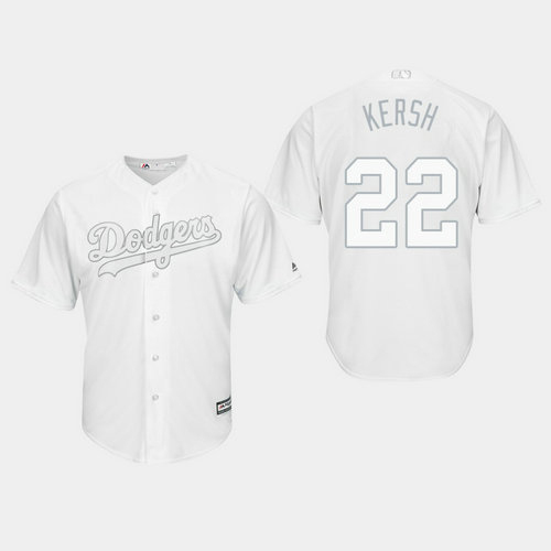 Men's Los Angeles Dodgers Clayton Kershaw #22 White 2019 Players' Weekend Kersh Jersey