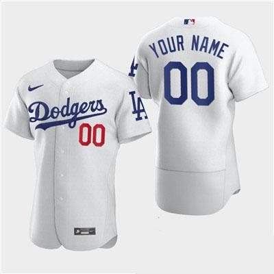 Men's Los Angeles Dodgers Custom Nike White Flexbase Jersey