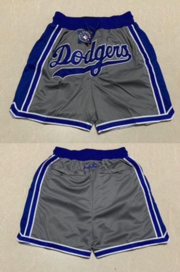 Men's Los Angeles Dodgers Grey Shorts (Run Small)