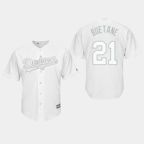 Men's Los Angeles Dodgers Walker Buehler #21 White 2019 Players' Weekend Buetane Jersey