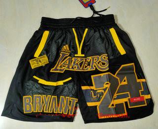 Men's Los Angeles Lakers #24 Kobe Bryant Black Golden Retired