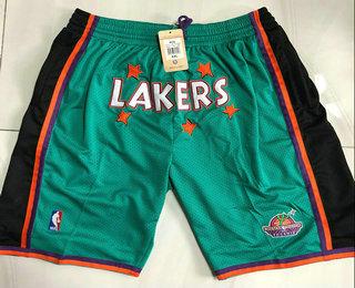 Men's Los Angeles Lakers Green Just Don Swingman Throwback Shorts