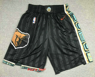 Men's Memphis Grizzlies Black Nike 2021 NEW Swingman City Edition Shorts