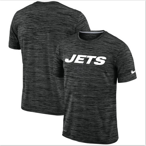 Men's New York Jets Nike Black Velocity Performance T-Shirt