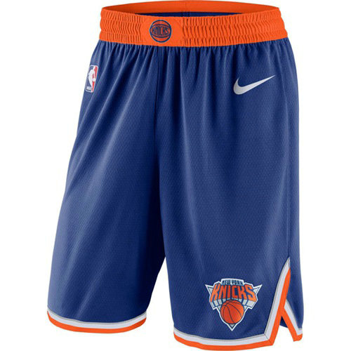 Men's New York Knicks Nike Blue Icon Swingman Basketball Shorts