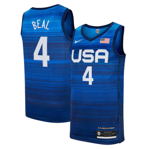 Men's Nike Bradley Beal Navy USA Basketball 2020 Summer Olympics Player Jersey