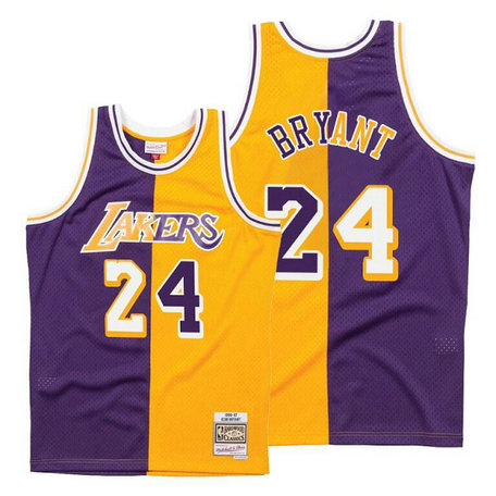 Men's Nike Los Angeles Lakers #24 Kobe Bryant Split Edition Jersey