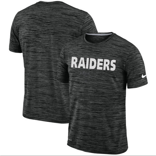 Men's Oakland Raiders Nike Black Velocity Performance T-Shirt