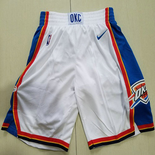 Men's Oklahoma City Thunder Nike White Swingman Basketball Shorts