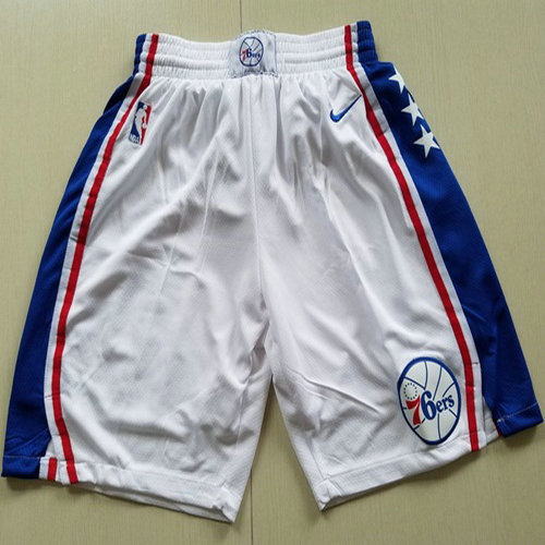 Men's Philadelphia 76ers Nike White Swingman Basketball Shorts