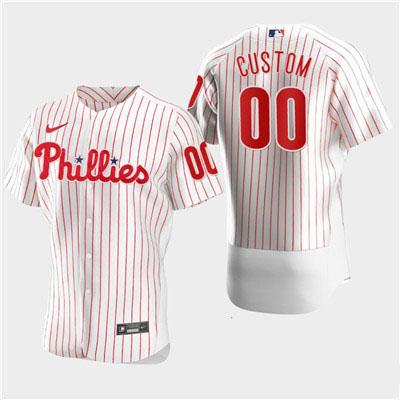Men's Philadelphia Phillies Custom Nike White Flexbase Jersey