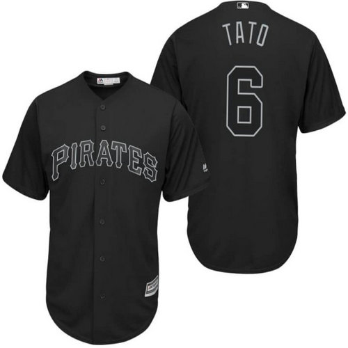 Men's Pittsburgh Pirates #6 Starling Marte Black 2019 Players' Weekend Tato Jersey