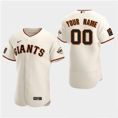 Men's San Francisco Giants Custom Nike White Flexbase Jersey
