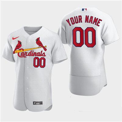 Men's St. Louis Cardinals Custom Nike White Flexbase Jersey