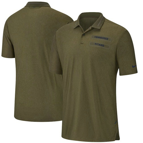 Men's Tennessee Titans Salute to Service Sideline Polo Olive