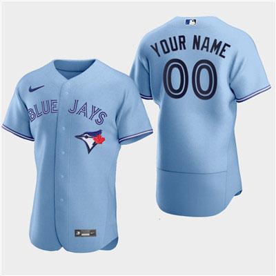 Men's Toronto Blue Jays Custom 2020 Alternate Flexbase Light Blue Jersey