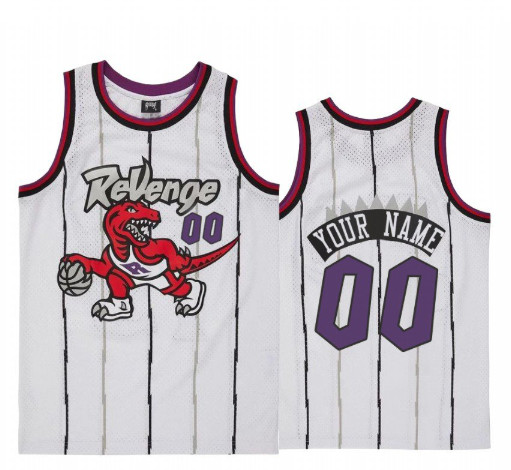 Men's Toronto Raptors Custom Name Number Jersey White Revenge