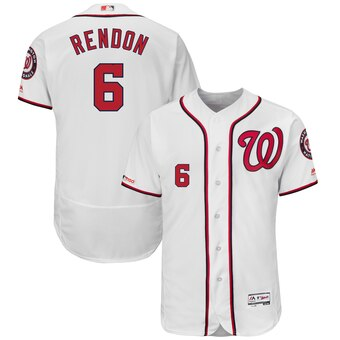 Men's Washington Nationals #6 Anthony Rendon Home White Flex Base Collection Player Jersey