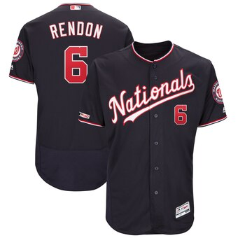 Men's Washington Nationals #6 Anthony Rendon Navy Alternate Authentic Flex Base Player Jersey