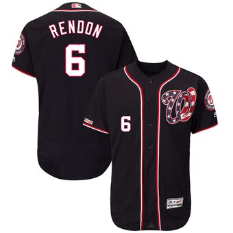Men's Washington Nationals #6 Anthony Rendon Navy Alternate Collection Flex Base Jersey