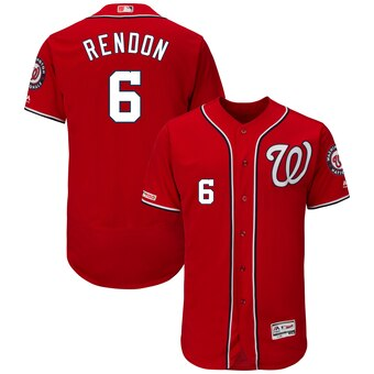 Men's Washington Nationals #6 Anthony Rendon Scarlet Flex Base Collection Player Jersey