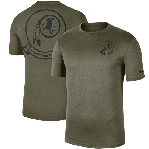 Men's Washington Redskins Nike Olive 2019 Salute To Service Sideline Seal Legend Performance T-Shirt
