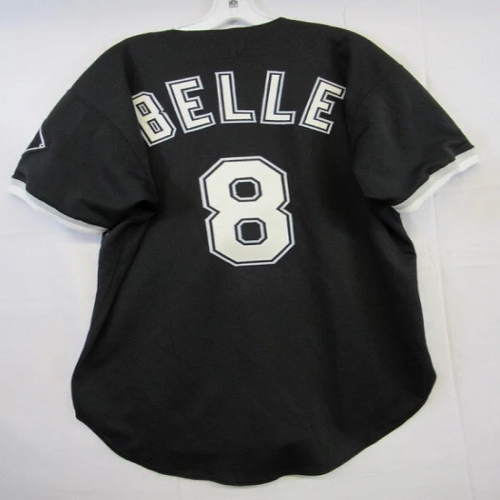 Men Chicago White Sox #8 Albert Belle Black Baseball Jersey