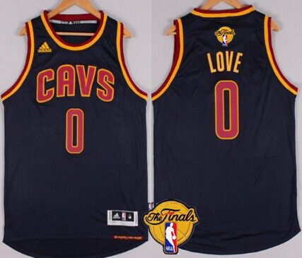 Men Cleveland Cavaliers 0 Kevin Love 2016 The NBA Finals Patch Navy Blue Jersey